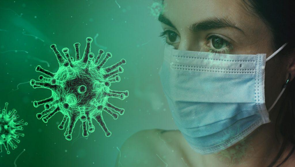 korona-virus ja maski