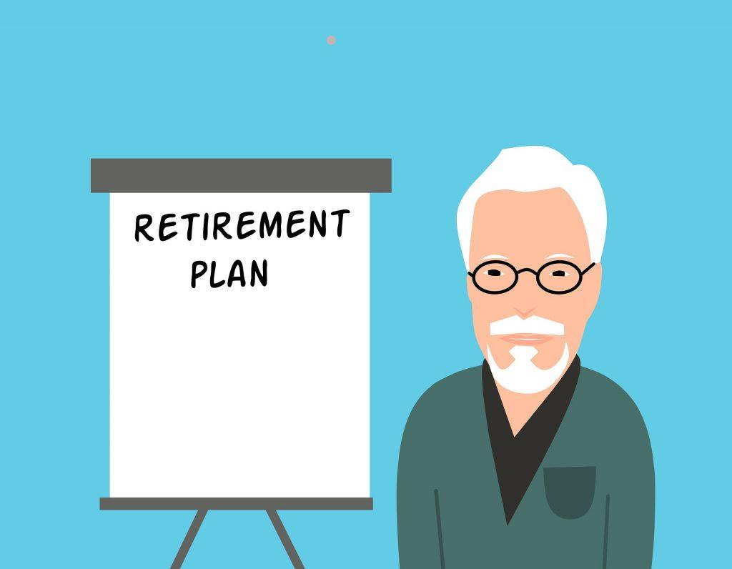 Vanhus laatii eläköitymissuunnitelmaansa.